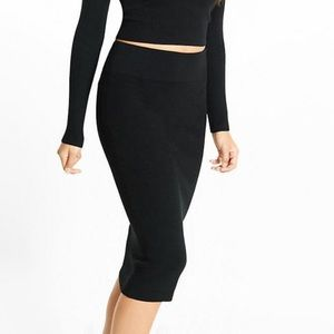 Express ribbed sweater pencil skirt
